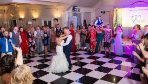 Oakwood hotel wedding photographer | Bride & Groom first dance |