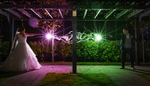Charleville park hotel | wedding photographer | Harry Potter theme | Night shot |